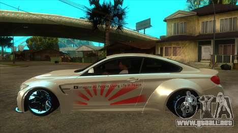 BMW M4 Liberty Walk Performance para GTA San Andreas left