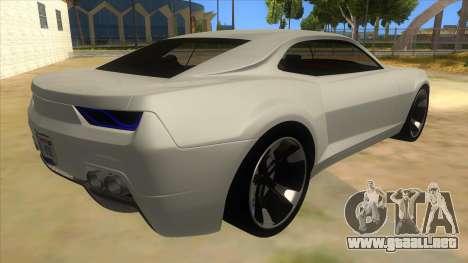 Chevrolet Camaro DOSH tuning MQ para la visión correcta GTA San Andreas