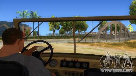 UAZ-469 Desert para visión interna GTA San Andreas