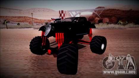 GTA 5 Hotknife Monster Truck para la visión correcta GTA San Andreas
