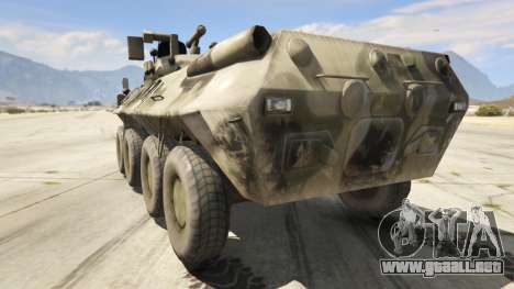 GTA 5 BTR-90 Rostok vista lateral izquierda trasera