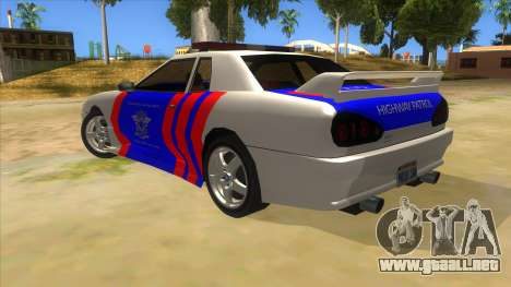 Elegy NR32 Police Edition White Highway para GTA San Andreas vista posterior izquierda