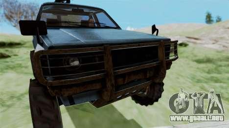 GTA 5 Karin Technical Machinegun IVF para GTA San Andreas vista hacia atrás