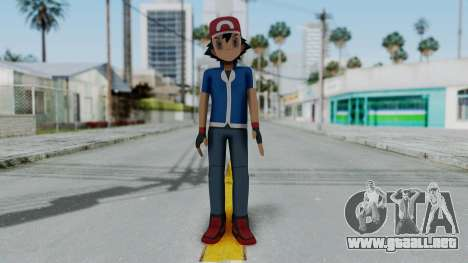 Pokémon XY Series - Ash para GTA San Andreas segunda pantalla