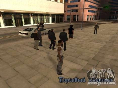 Los rusos en el distrito Comercial para GTA San Andreas segunda pantalla