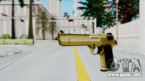 Pouxs Desert Eagle v2 Gold para GTA San Andreas segunda pantalla