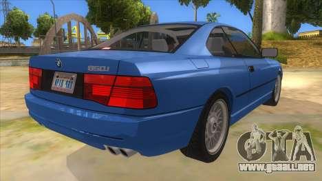 BMW 850i E31 para la visión correcta GTA San Andreas