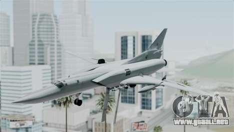 TU-22M3 Verde para GTA San Andreas vista posterior izquierda