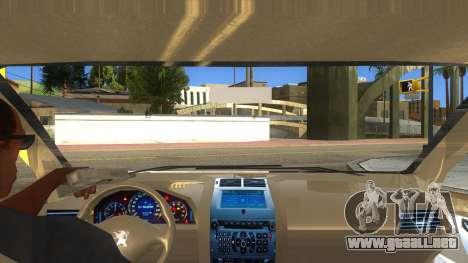 Peugeot 407 para visión interna GTA San Andreas