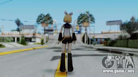 Project Diva F2 - Kagamine Rin (Costume 1) para GTA San Andreas tercera pantalla