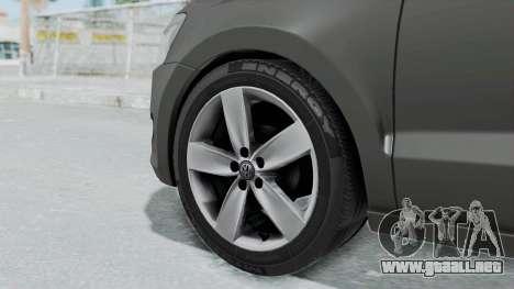 Volkswagen Polo 6R 1.4 HQLM para GTA San Andreas vista posterior izquierda