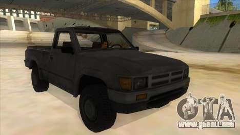 Toyota Hilux Militia para GTA San Andreas vista hacia atrás