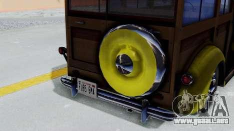 Ford V-8 De Luxe Station Wagon 1937 Mafia2 v1 para la visión correcta GTA San Andreas
