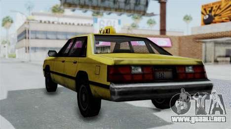 Taxi from GTA Vice City para GTA San Andreas left