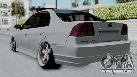 Honda Civic 2002 Model Vtec1 para GTA San Andreas left