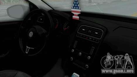 Volkswagen Polo 6R 1.4 HQLM para la visión correcta GTA San Andreas