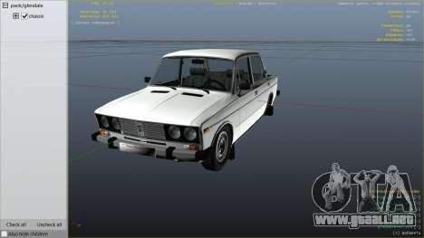 GTA 5 VAZ 2106 vista lateral derecha