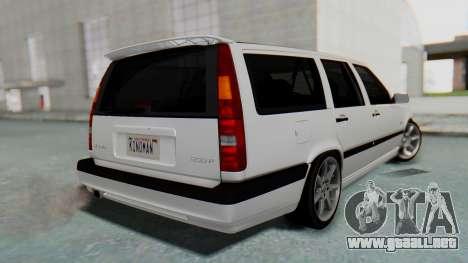 Volvo 850R 1997 Tunable para GTA San Andreas left
