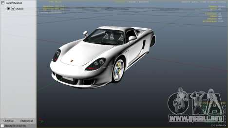 GTA 5 Porsche Carrera GT vista lateral derecha
