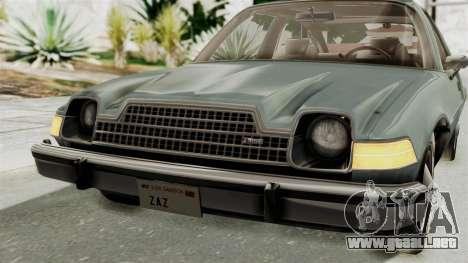 AMC Pacer 1978 IVF para la vista superior GTA San Andreas