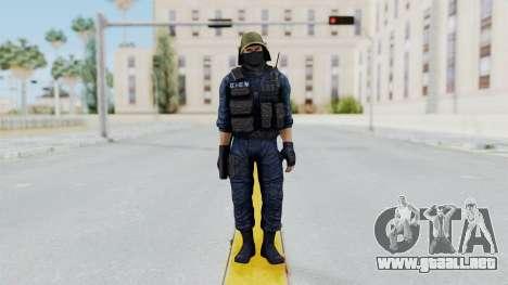 GIGN 2 Masked from CSO2 para GTA San Andreas segunda pantalla