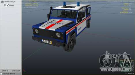 GTA 5 Land Rover Defender vista lateral derecha