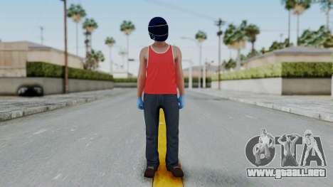 Biker from Hotline Miami para GTA San Andreas segunda pantalla