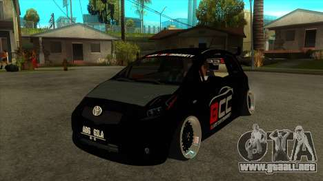 Toyota Yaris (Vitz) [Black Car Community] para GTA San Andreas