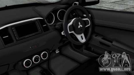 Mitsubishi Lancer Evolution X GSR Full Tunable para la visión correcta GTA San Andreas