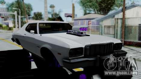 Ford Gran Torino Monster Truck para GTA San Andreas vista posterior izquierda