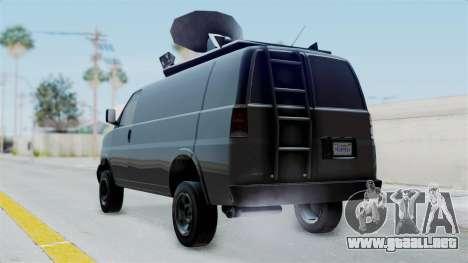 Vapid Speedo Newsvan para GTA San Andreas left