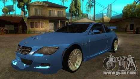 BMW M6 Full Tuning para GTA San Andreas