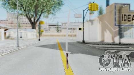 Samurai Sword para GTA San Andreas segunda pantalla