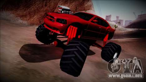 2006 Dodge Charger SRT8 Monster Truck para visión interna GTA San Andreas