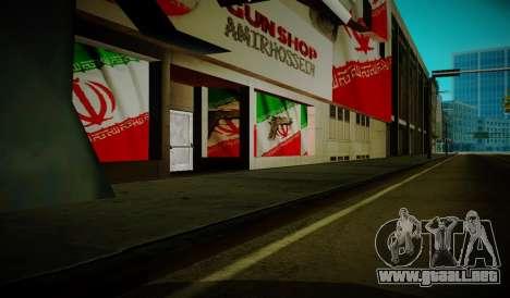Iranian ammunation para GTA San Andreas segunda pantalla