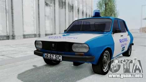Dacia 1300 Police para GTA San Andreas vista hacia atrás