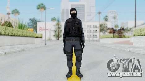 GTA 5 S.W.A.T. Police para GTA San Andreas segunda pantalla