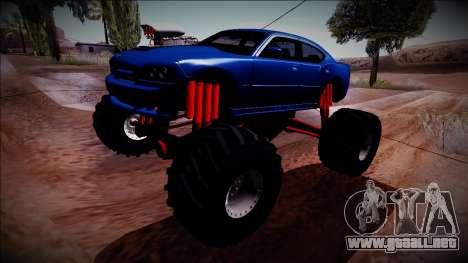 2006 Dodge Charger SRT8 Monster Truck para GTA San Andreas vista hacia atrás