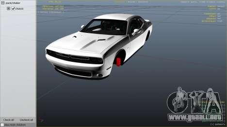 GTA 5 2015 Dodge Challenger vista lateral derecha