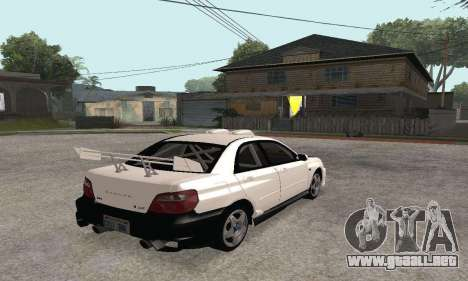 Subaru Impreza WRX STi Tunable para visión interna GTA San Andreas