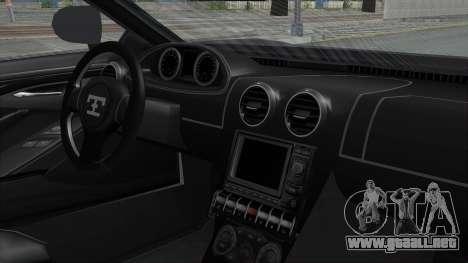 GTA 5 Truffade Adder v2 SA Lights para GTA San Andreas vista hacia atrás