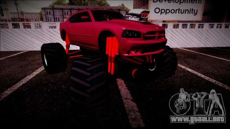 2006 Dodge Charger SRT8 Monster Truck para GTA San Andreas interior