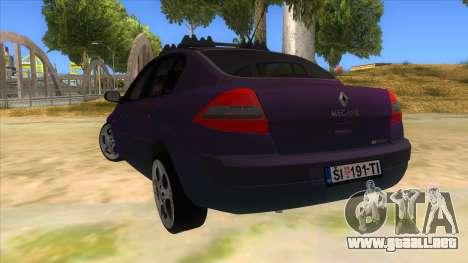 Renault MEGANE 2 para GTA San Andreas vista posterior izquierda