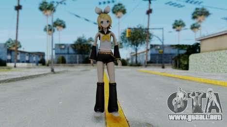 Project Diva F2 - Kagamine Rin (Costume 1) para GTA San Andreas segunda pantalla