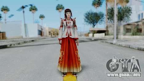 Sengoku Musou 3 - Okuni para GTA San Andreas segunda pantalla