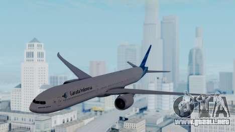 Boeing 777-9U3(X) Garuda Indonesia para GTA San Andreas vista posterior izquierda
