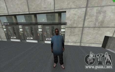 Un cambio visual de la piel para GTA San Andreas segunda pantalla
