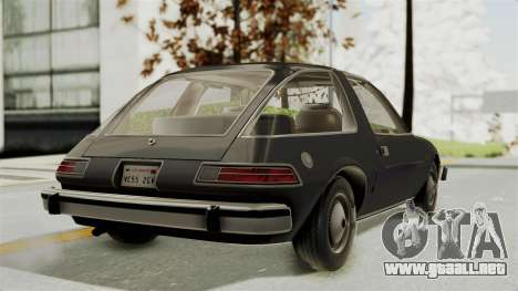 AMC Pacer 1978 para GTA San Andreas left