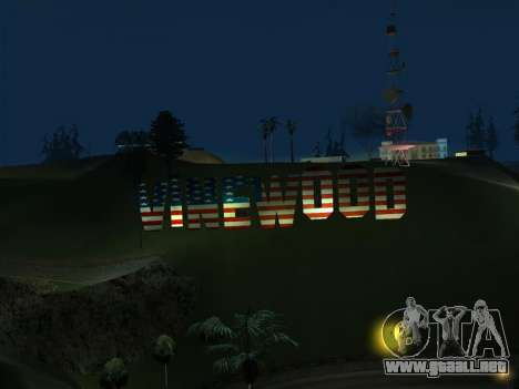 New Vinewood colors USA flag para GTA San Andreas tercera pantalla