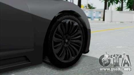 GTA 5 Truffade Adder v2 SA Lights para GTA San Andreas vista posterior izquierda